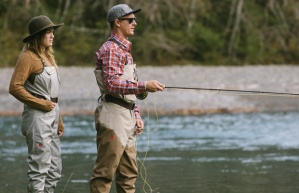 Girl:Boy Fly Fishing